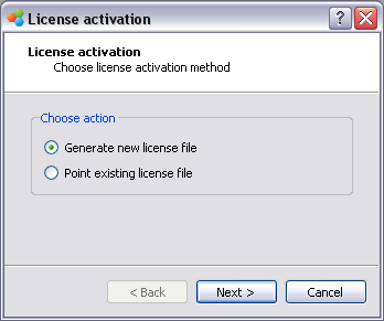 Generate new license file