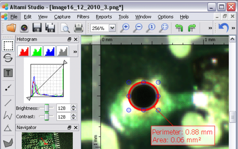 Image measuring in electronics