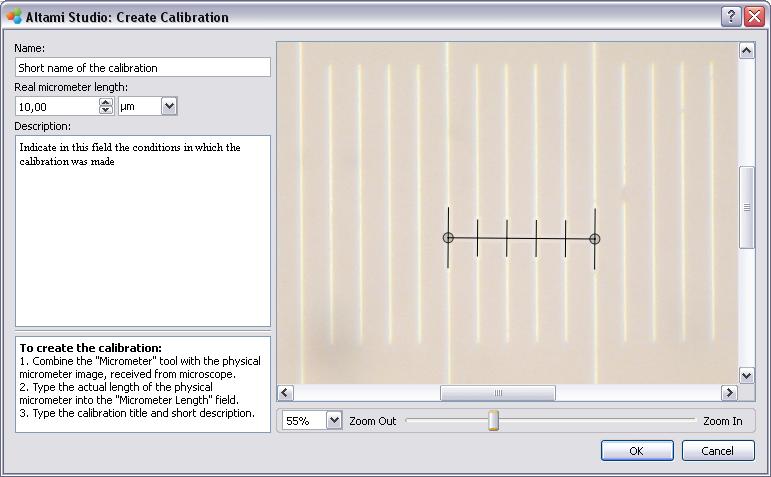 Calibration creating