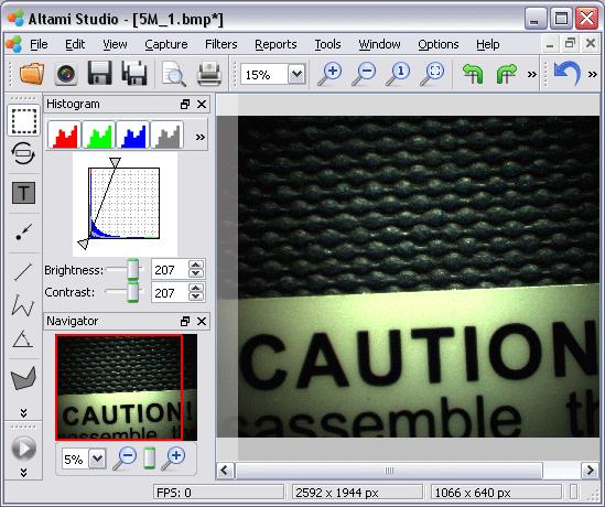 The shell image after histogram adjustment