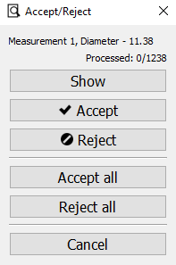 Accept/Reject window
