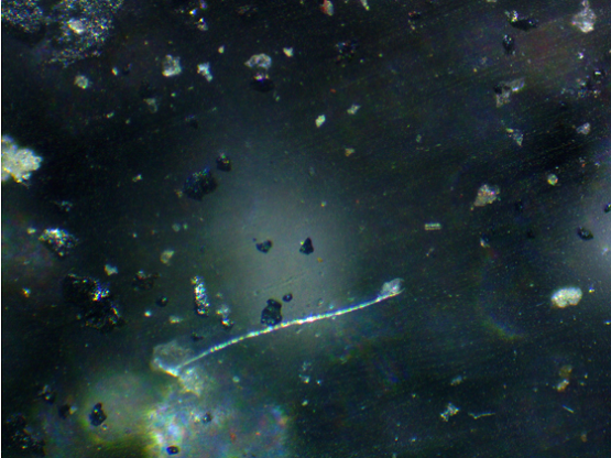 particles of ash, atmospheric dust and crystals of ammonium nitrate